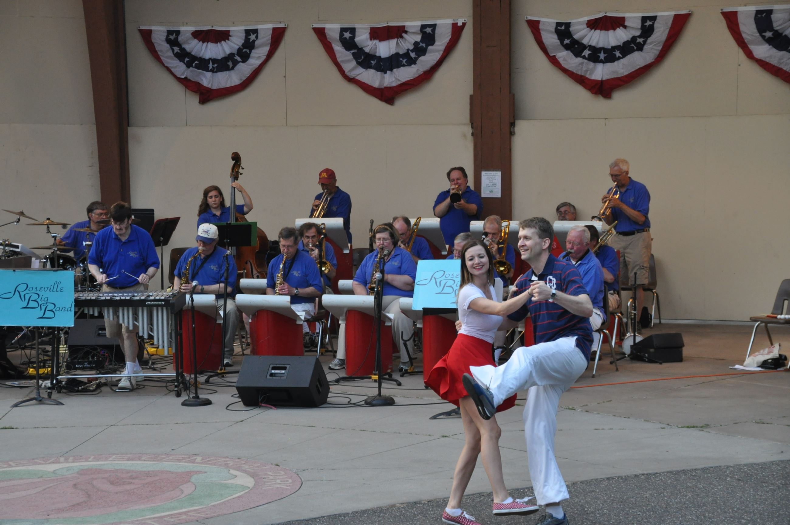 Roseville Big Band with dancers