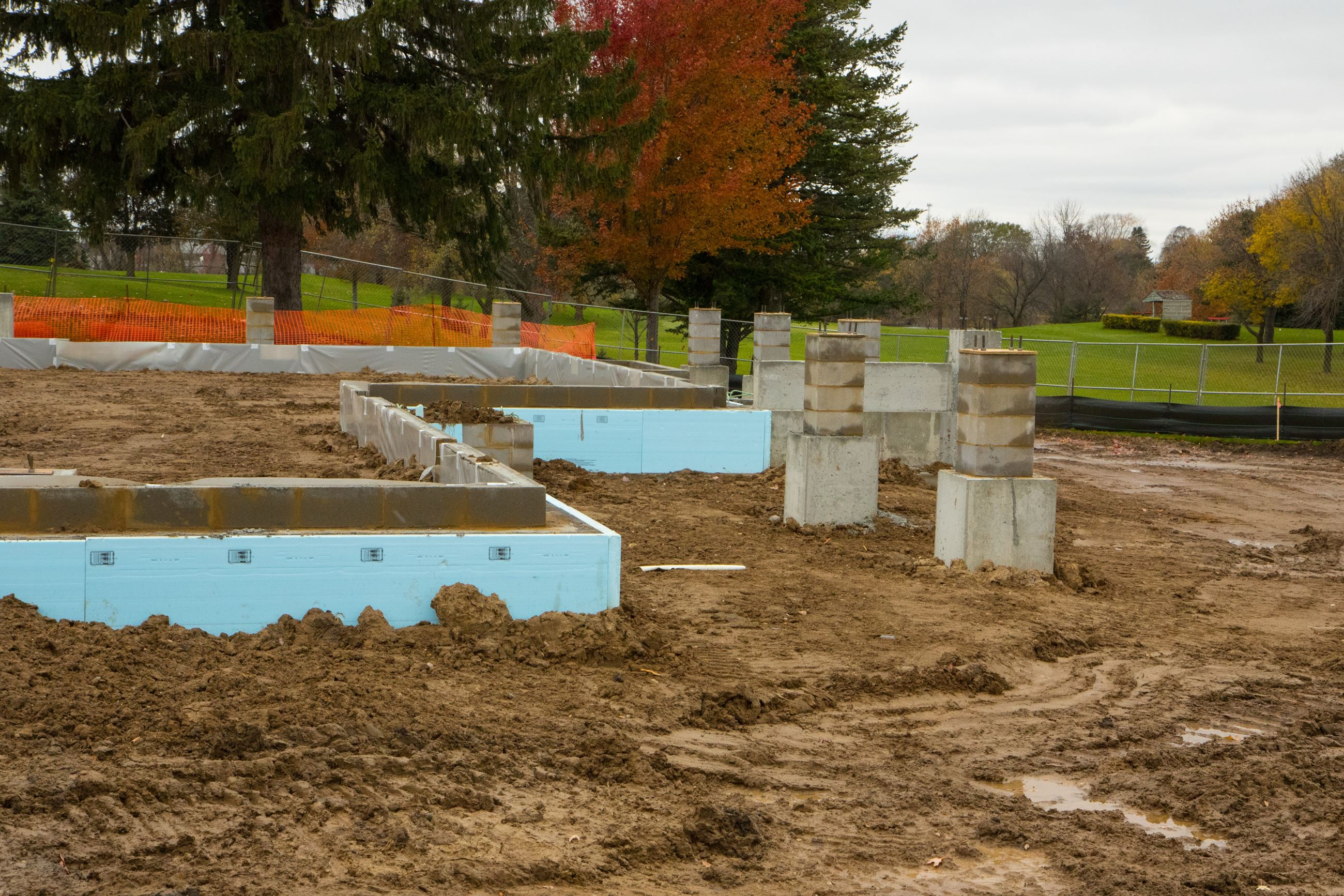 Building footings