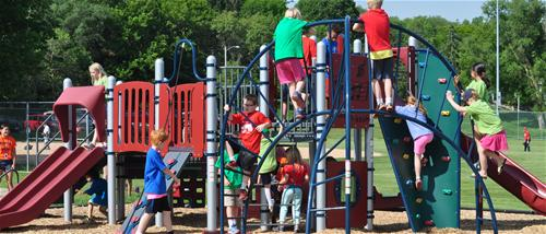 Victoria ballfields play structure